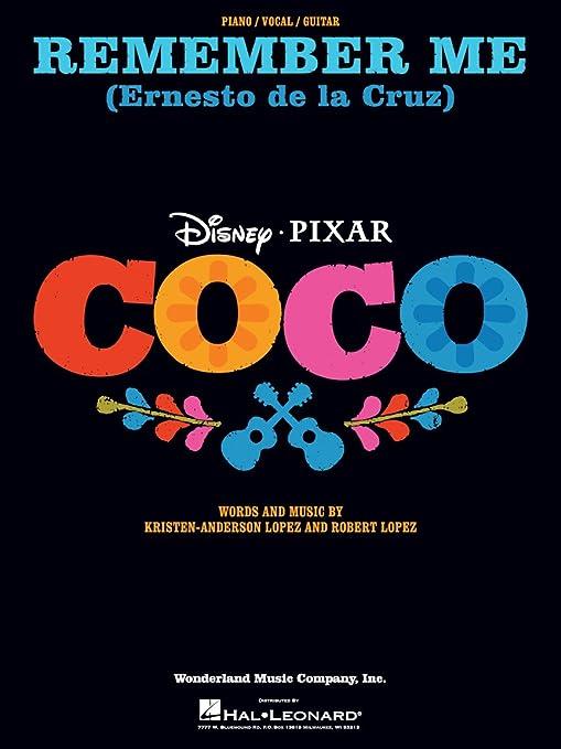 Remember Me (Ernesto de la Cruz) de la película Coco – Piano/Vocal ...