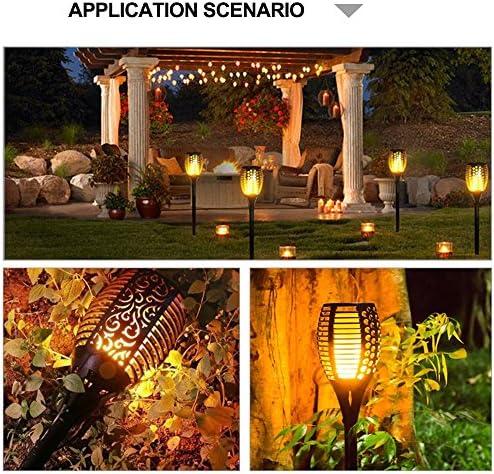 Luces solares de jardín, alumbrado vial, luces de llama, alumbrado de jardín: Amazon.es: Iluminación