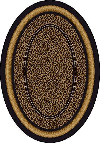 Signature Zambia Print Onyx Rug Rug Size: Oval 3'10
