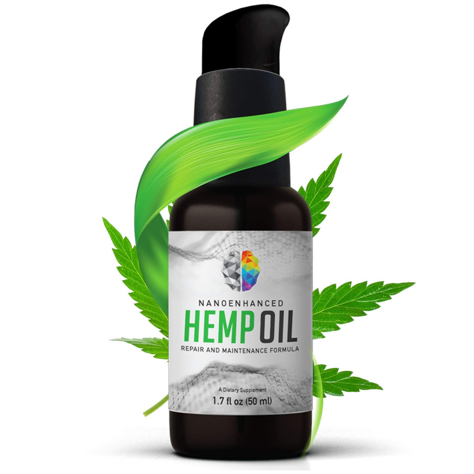 PrimeMyBody Nano-Enhanced Hemp Oil Oral Spray, 1.7 oz (50mL)