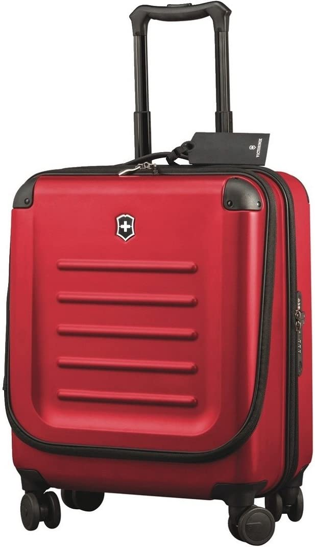 "Victorinox Spectra 2.0 Dual-Access Hardside Spinner Suitcase, Red, Carry-On, Extra Capacity (21.7"")"