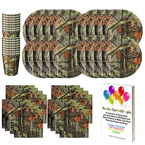 Camo Hunting Camouflage Birthday Party Supplies Set Plates Cups Napkins Tableware Kit for 16 Guests by Parties Can Be Simple -