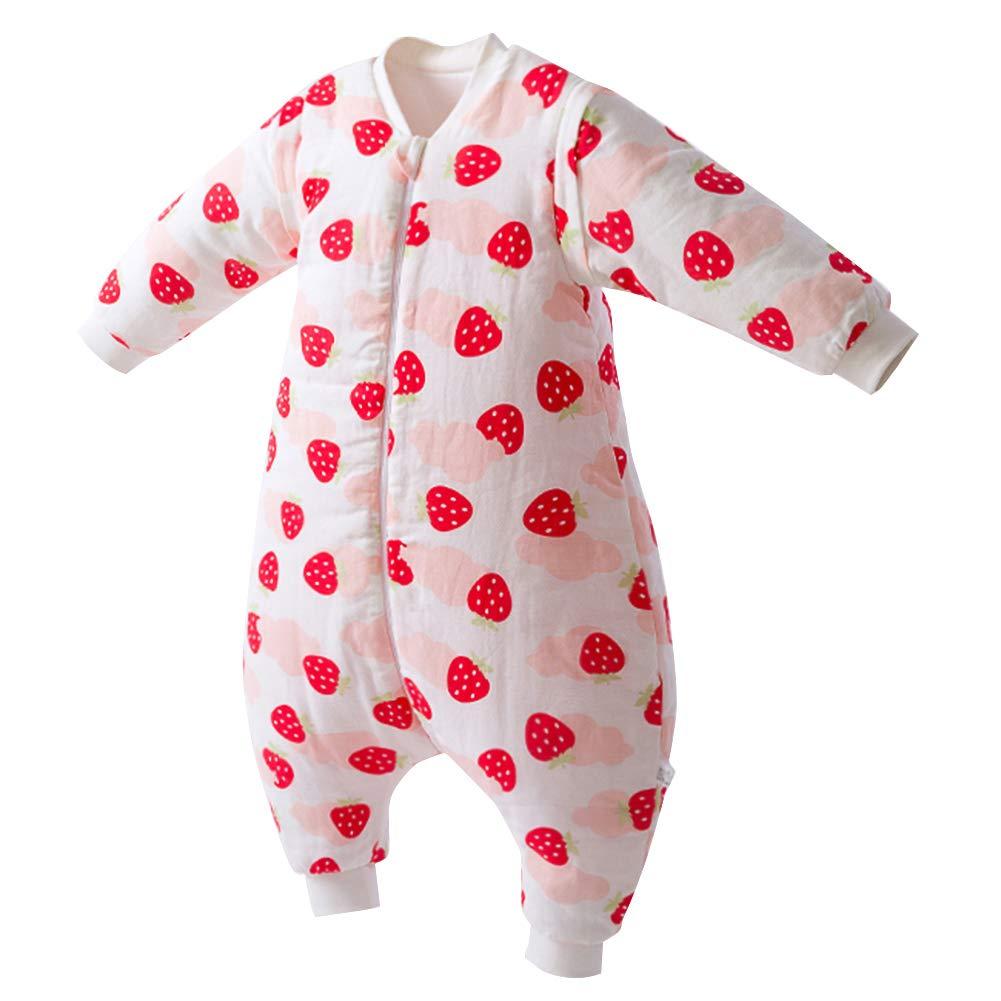 Happy Cherry - Gigoteuse Bébé Fille Garçon avec Manches Amovible Grenouillère en Coton Enfant Turbulette Chaud pour Printemps Automne Hiver - 6-36 mois