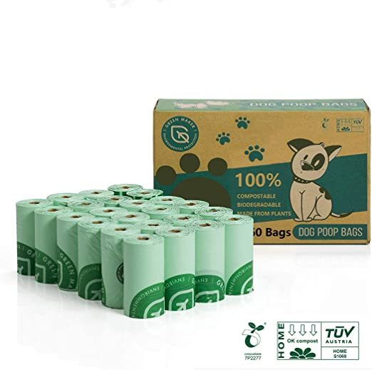 Green Maker 100% Biodegradables Caca Perro 360 Bolsas Excrementos ...
