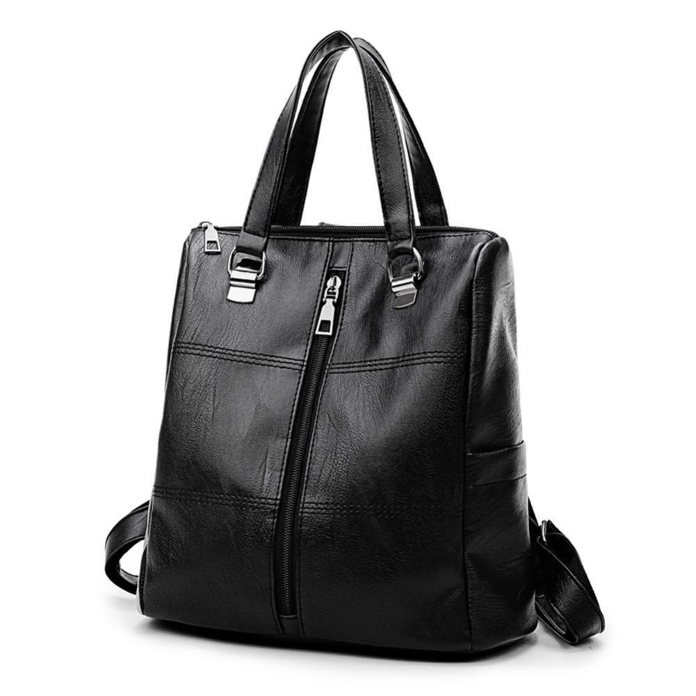 0a0973737 ALIKEEY 2018 Vintage ♈ Girl Leather School Bag Mochila Satchel Mujeres  Viaje Bandolera Con Cremallera De Cuero SóLido Sn Para Mujer Original En  Gorjuss ...