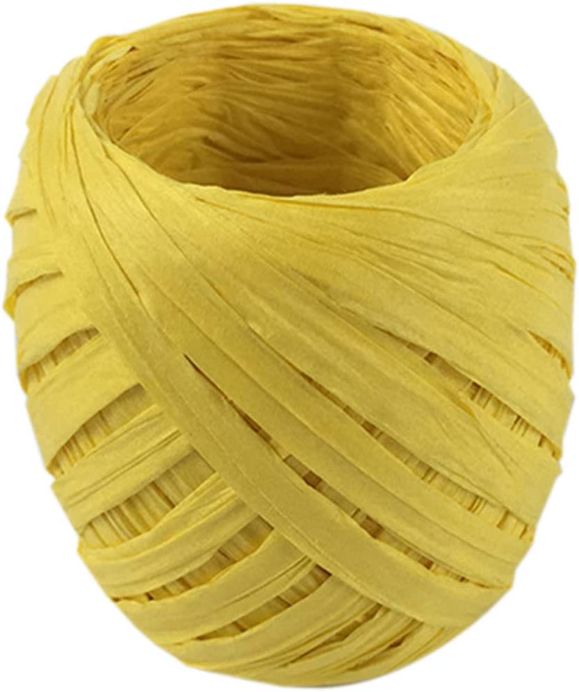 Outgeek 2 Rolls Paper String Multi-Purpose Solid Color Craft Raffia Craft Ribbon Gift Wrapping Ribbon