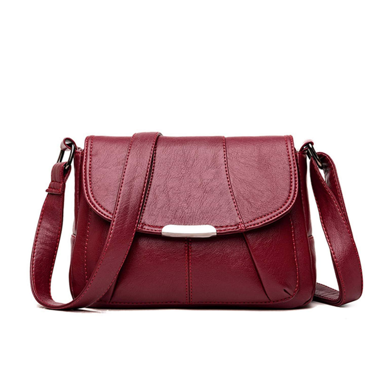 31b331332cee Amazon.com  Women Messenger Bags Small Leather Shoulder Bag Female Vintage  Flap Ladies Bag Crossbody Bags for Women  Computers   Accessories