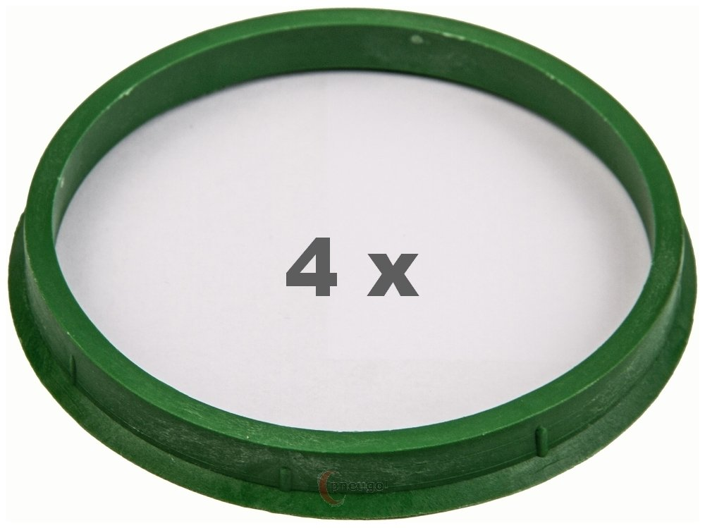 4 x Zentrierringe 110.0 mm auf 100.0 mm gr/ün//green
