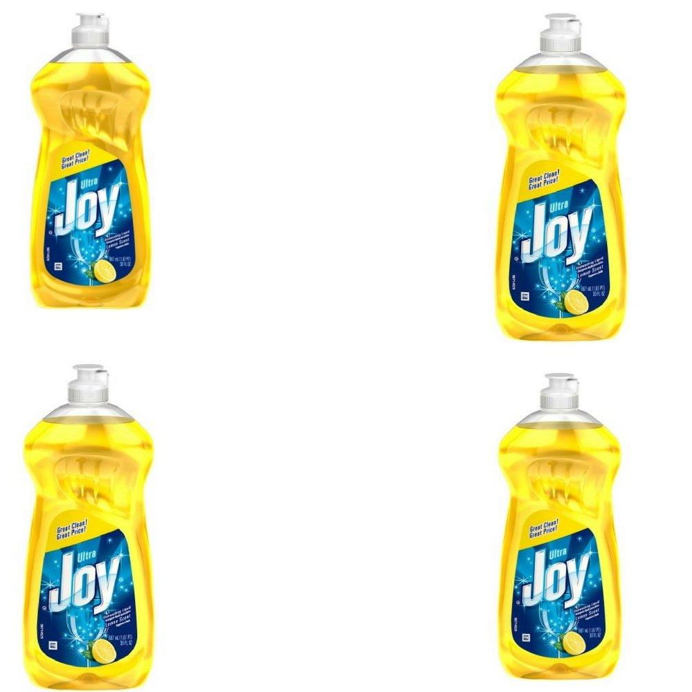 Joy Ultra Concentrated Dishwashing Dish Liquid, Lemon, 30 fl oz (Pack of 4)