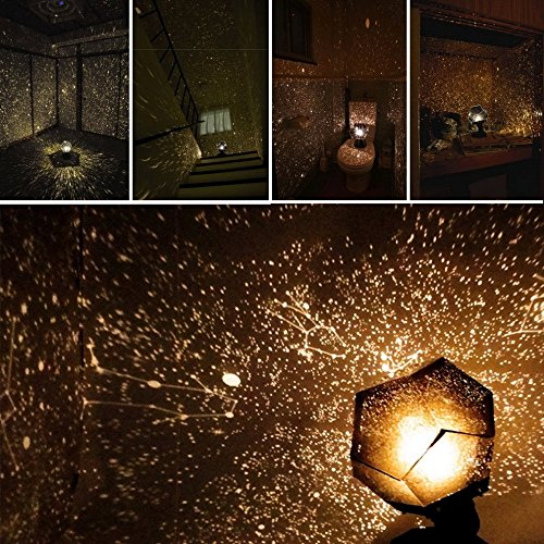 Ikevan Celestial Star Cosmos Night Lamp Night Lights Projection Projector Starry Sky (Glassware Cart)