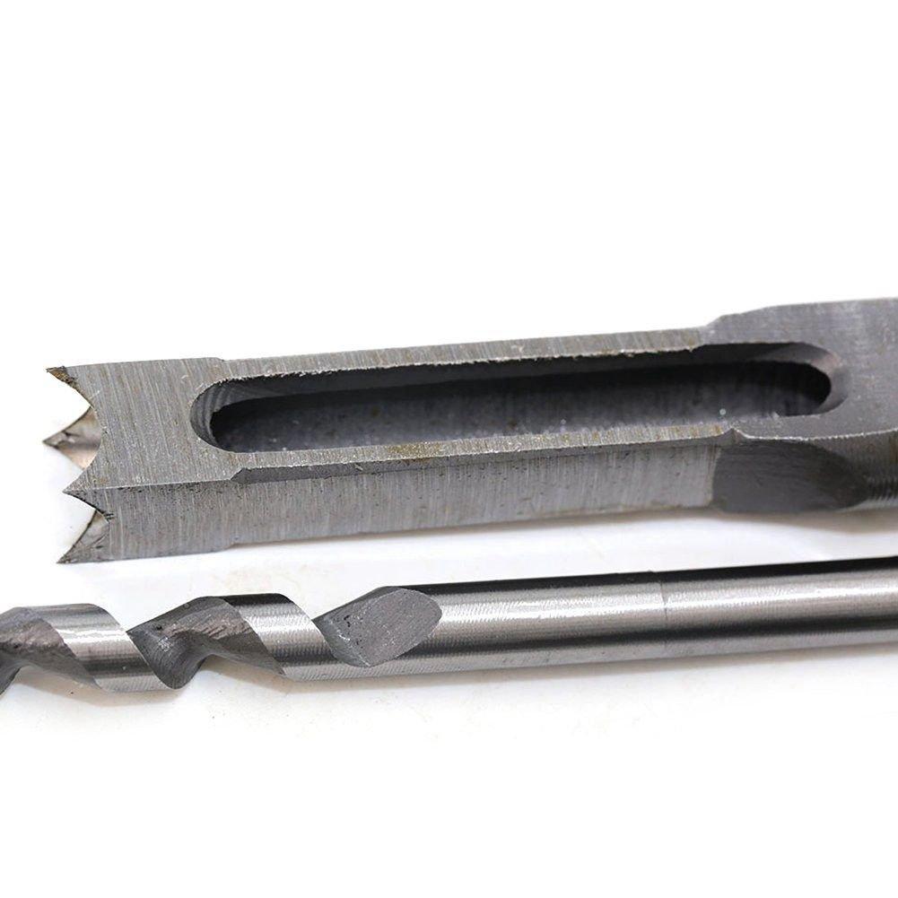 Gaoominy 4 pz lavorazione del legno punta quadrata punte da trapano legno mortasa scalpello set lavorazione del legno fori sega set con Twist trapano DIY mortasa scalpello utensili elettrici