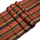 TtoyouU Southeast Asia Style Mixed Stripes Table Runner (12.60''70.87'')