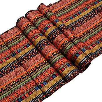 """TtoyouU Southeast Asia Style Mixed Stripes Table Runner (12.60""""70.87"""")"""
