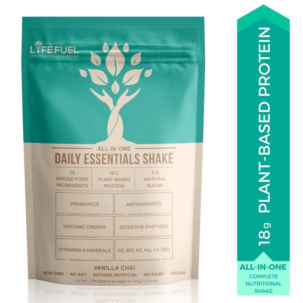 Amazon.com : Plant Based Vegan Protein Powder Shake by LyfeFuel ...