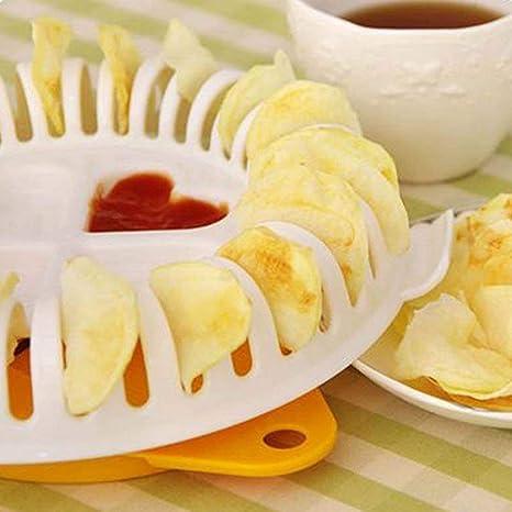 Soporte para hacer patatas chips en el microondas y sin aceite ...