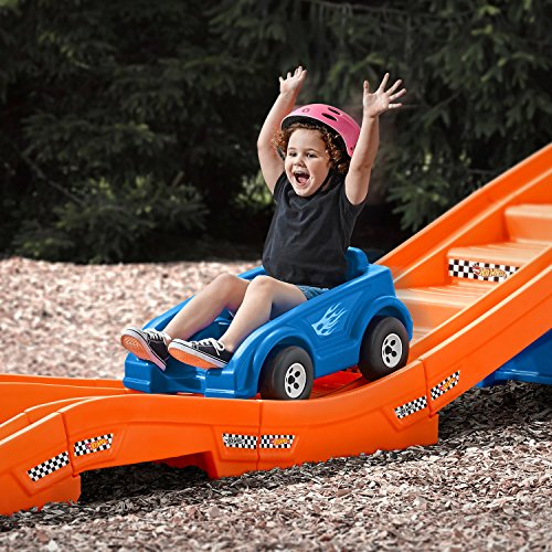 61bpaebxrNL - Step2 Hot Wheels Extreme Thrill Coaster Ride On