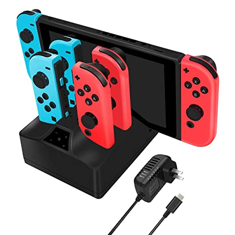 Amazon.com: Charging Station for Nintendo Switch, Y Team 5 ...