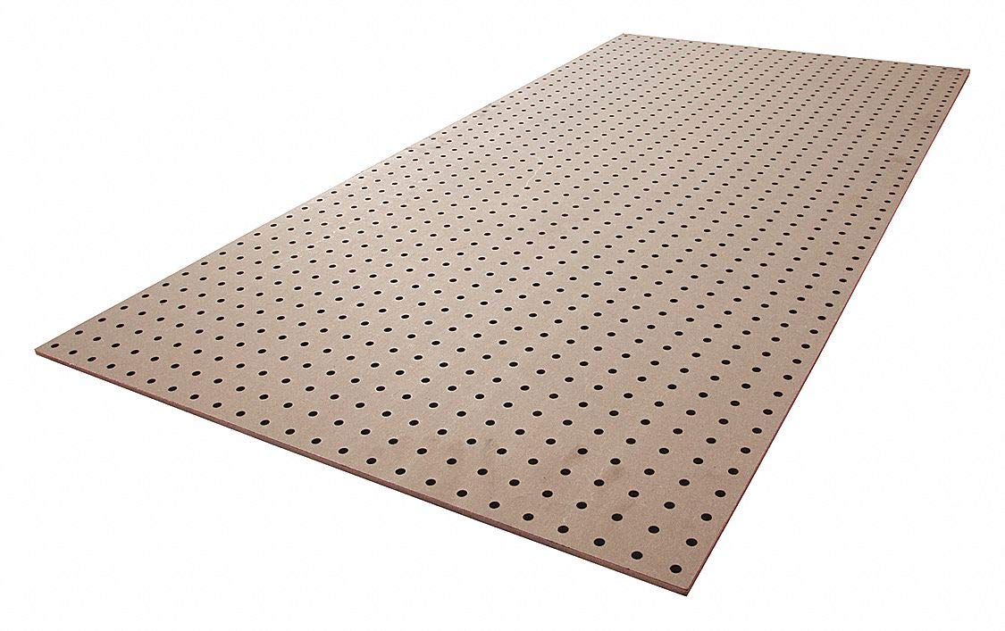 2 PK Load Capacity Brown 24H x 48W Hardwood Pegboard Panel with 275 lb