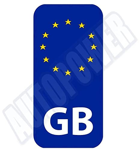 Sticker GB Driving Car Travel Europe Use Easy On Off Non Adhesive For EU Use