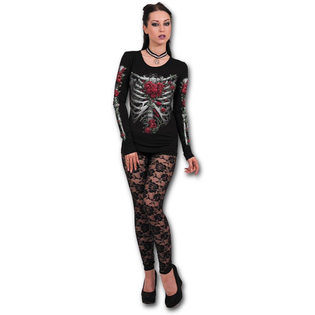 Spiral - ROSE BONES - Baggy Top Black Spiral Direct Ltd K044F440