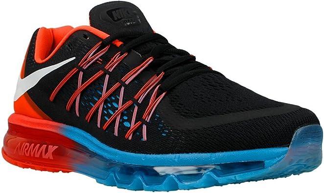 Nike Air MAX 2015 Zapatillas de Running Negro Blanco Brillante Color Azul 698902 006: Amazon.es: Zapatos y complementos