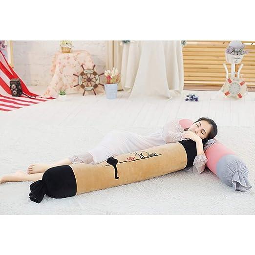 Baozheng Caricatura caramelo almohada cilíndrica larga ...