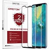 [2 Pack]HUAWEI Mate 20 Pro Screen Protector,OMOTON HUAWEI Mate 20 Pro Tempered Glass Screen Protector with [3D Curved Edge to Edge] [9H Hardness Anti-Scratch] [Non-Bubbles] شاشة حماية زجاجية