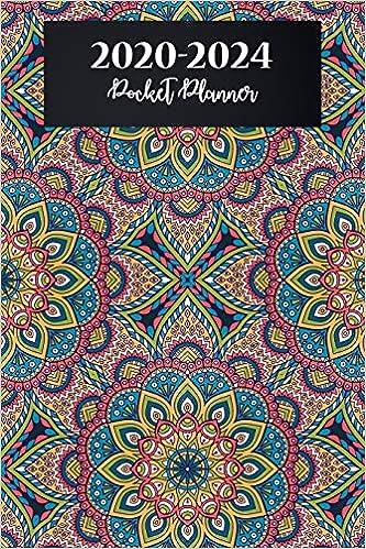 2020-2024 Pocket Planner: Mandala Floral Cover, Monthly ...