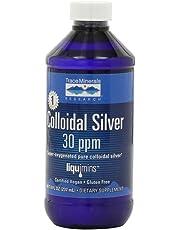 Trace Minerals Research Liquimins Colloidal Silver 30 ppm, Dietary supplement Liquid Formula , 8 fl oz bottle