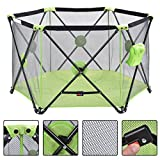 New MTN-G Green Baby Play Pen Playard Portable Folding Outdoor Indoor Safety Free Standing