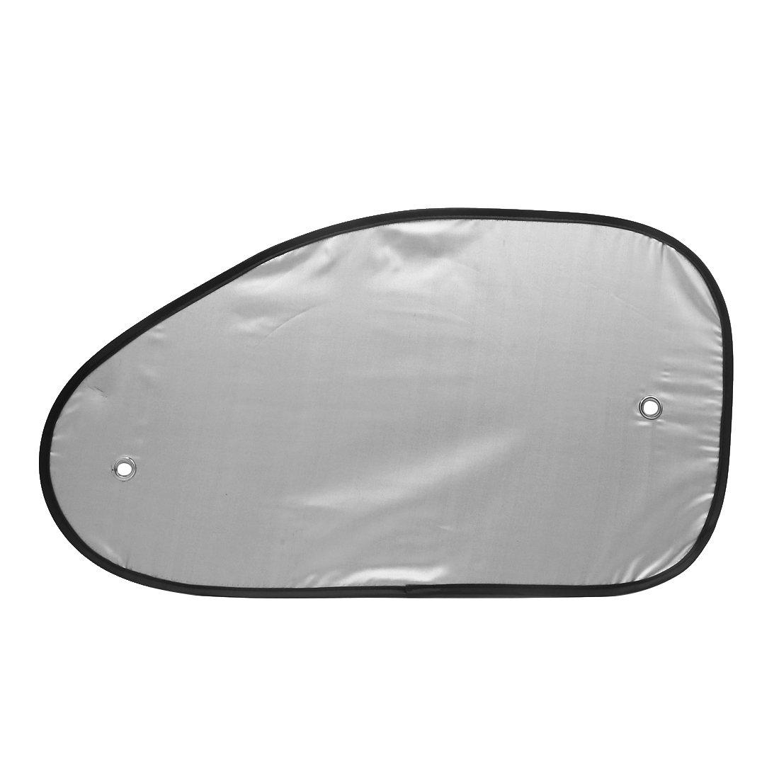 sourcing map 2Stk Silver Tone Auto Wagen Seitenfenster Sonnenschutz Visor Schild Abdeckung DE