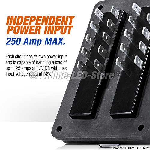 waterproof blade fuse box - [ip56] [led indicator for blown - import it all