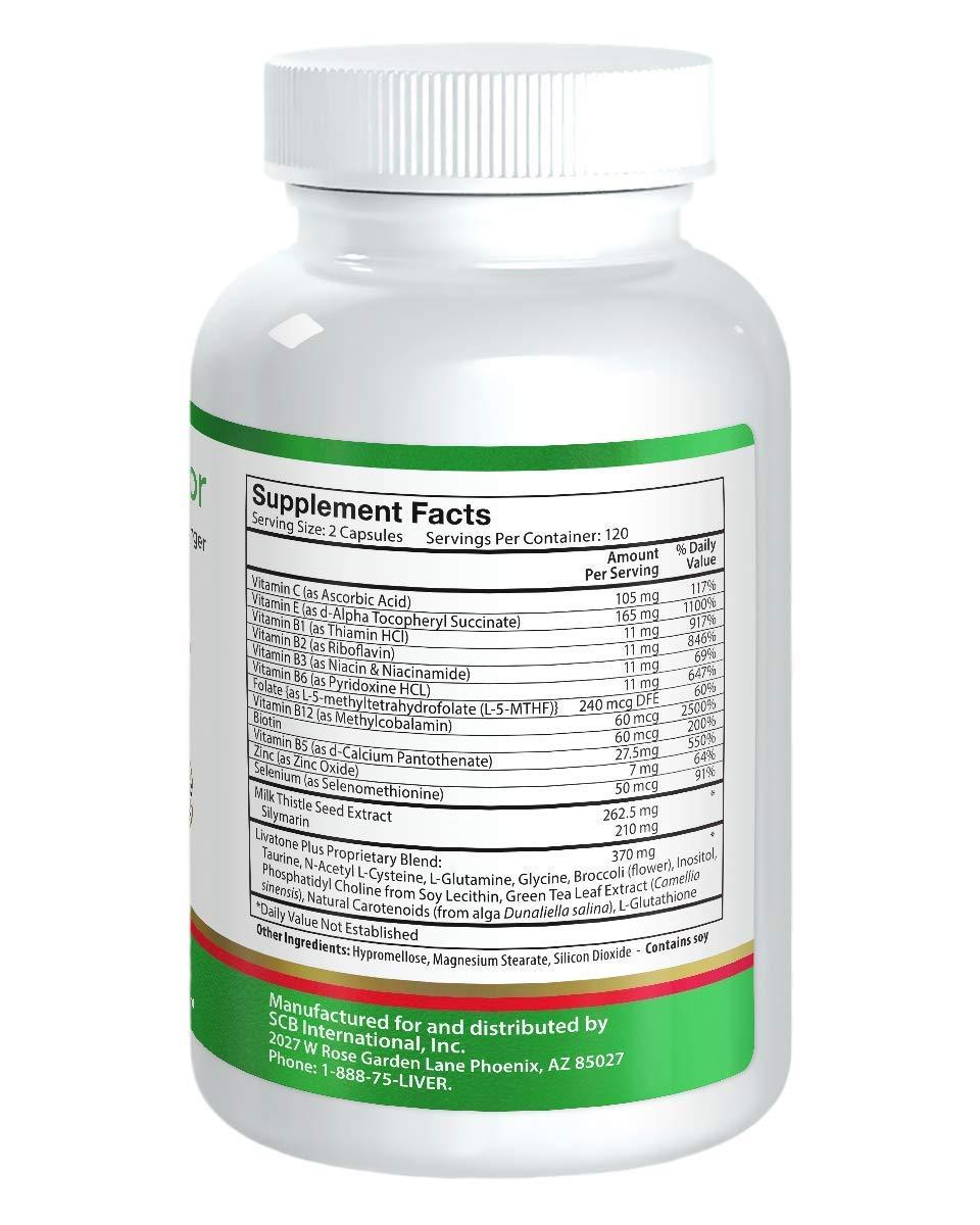 Amazon.com: LiverDoctor, Comprimidos Livatone Plus 240 ...