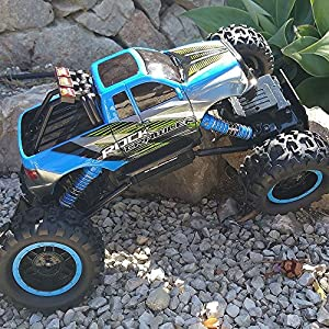 Blexy RC Car Rock Climber 2.4Ghz 4WD Remote Control Vehicle 1/14 Off-Road Electric Racing Monster Truck Toy for Kids with LED Headlights Blue