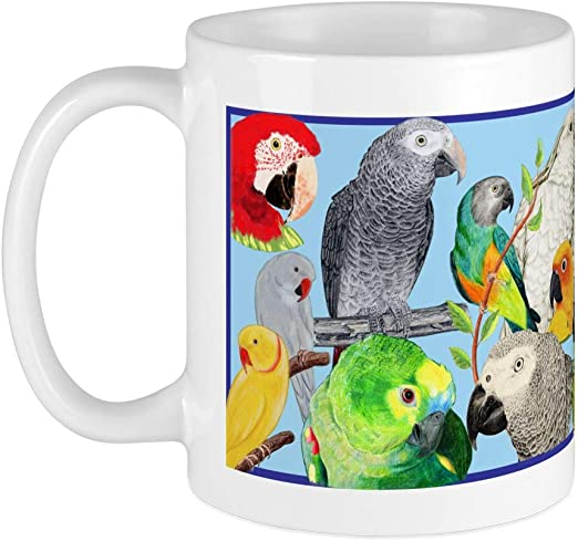 Amazon Com Cafepress Parrots Mug Unique Coffee Mug Coffee Cup Kitchen Dining