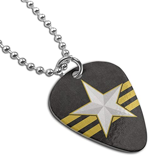 3852bd6da5d0 Amazon.com: Fallout Flag Of The Ncr Rangers Guitar Pick Necklace ...