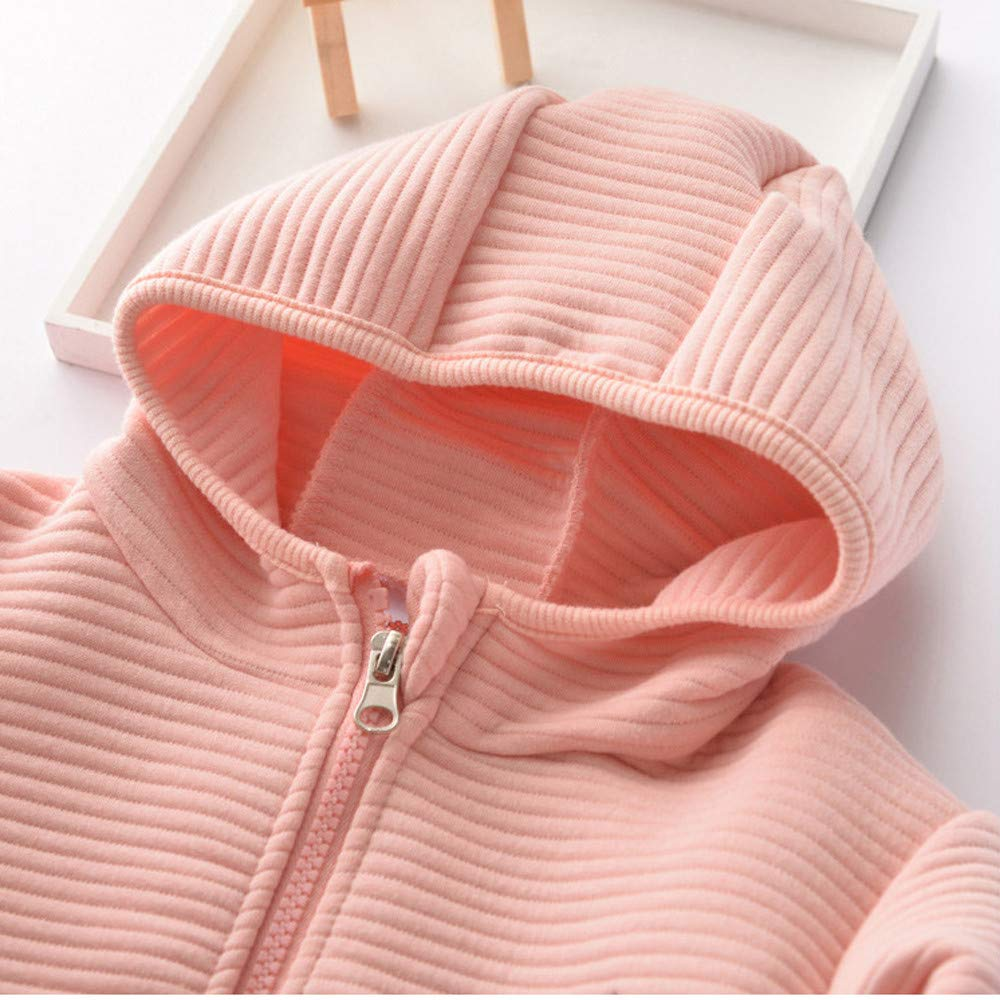 TOOPOOT-Baby Coat,Toddler Kids Baby Girl Boy Rabbit Cartoon Hoodie Tops Warm Clothes Coat Outfits for 1-6 Years