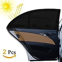 Auto Sonnenschutz, Otumixx Universal Sonnenblende Auto (2er Set) mit UV Schutz Baby werdenvorSonnengeschützt Autoscheiben Sonnenschutz geeignet für Autos und SUVs - Schwarz