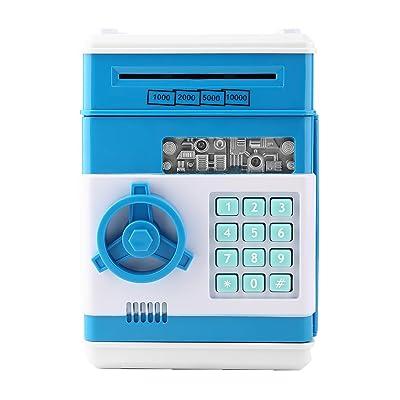 7colors Tirelire électronique, Mini ATM Mot de passe Money Bank, Coffre-fort Coffre à économie d'énergie, Panda Cash Pièce peut, Smart Voice et musique Prompt Money Savings Bank Machine pour