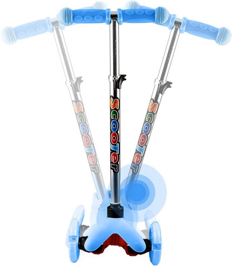 62-75cm Trottinette Enfant 3 Roues LED Solides 3-12Ans Id/éal pour Les Enfants Pliable Scooter Enfant avec Frein arri/ère et Hauteur R/églable