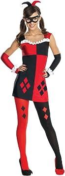 DC Comics - Disfraz de Harley Quinn para chica (talla pequeña, 68 ...