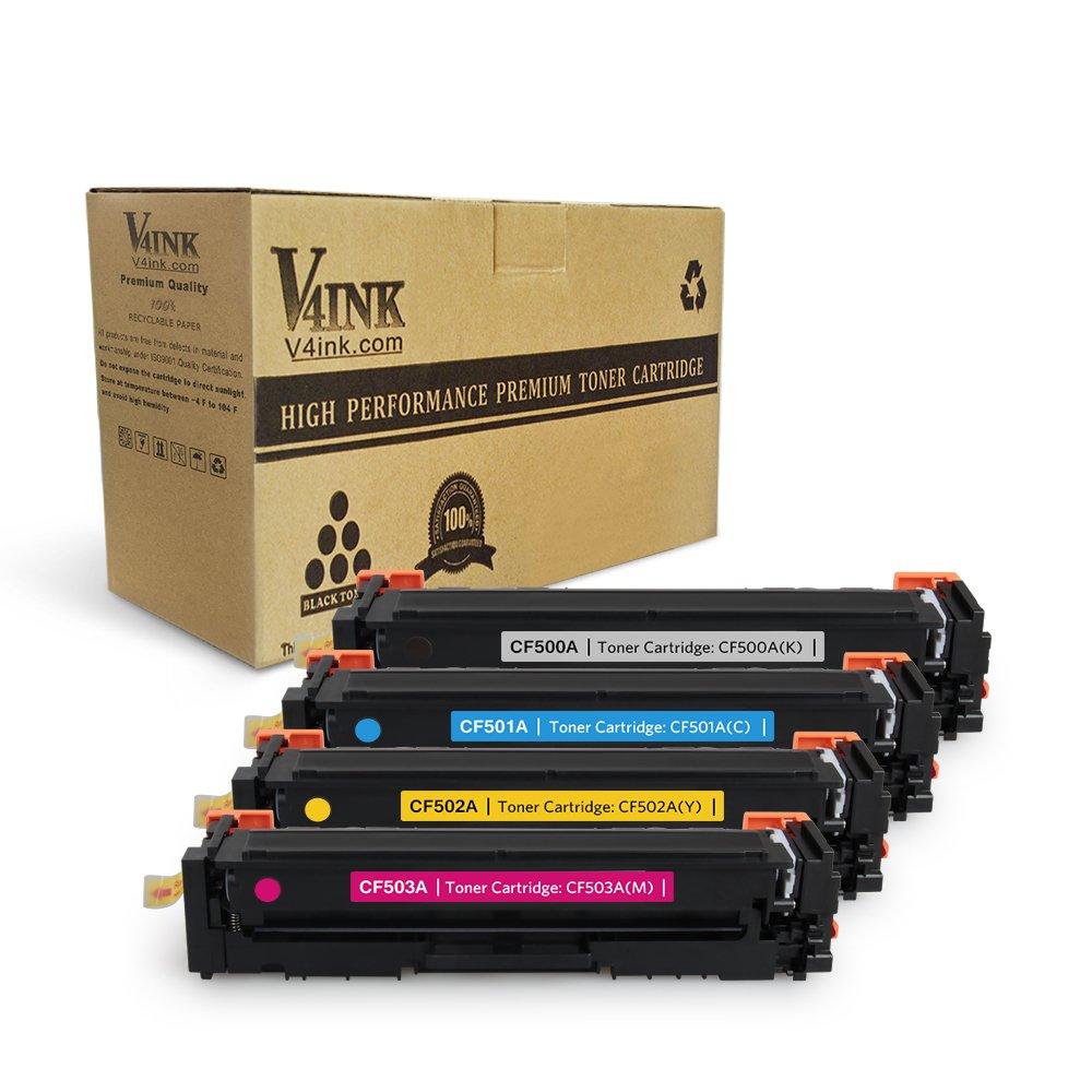 Toner Alternativo ( X4 ) 4 Colores 4PK CF500A 202A CF500A CF501A CF502A CF503A MFP M280 M254dw MFP M281dw M281cdw M281fd