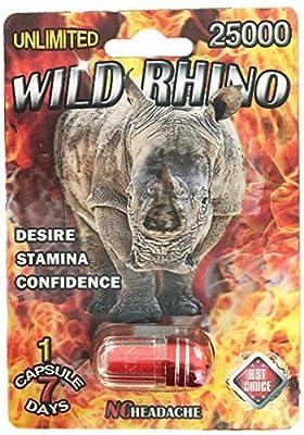 Wild Rhino 25000 3D - 20 Pills Male Enhancement Pill - Fast US Shipping