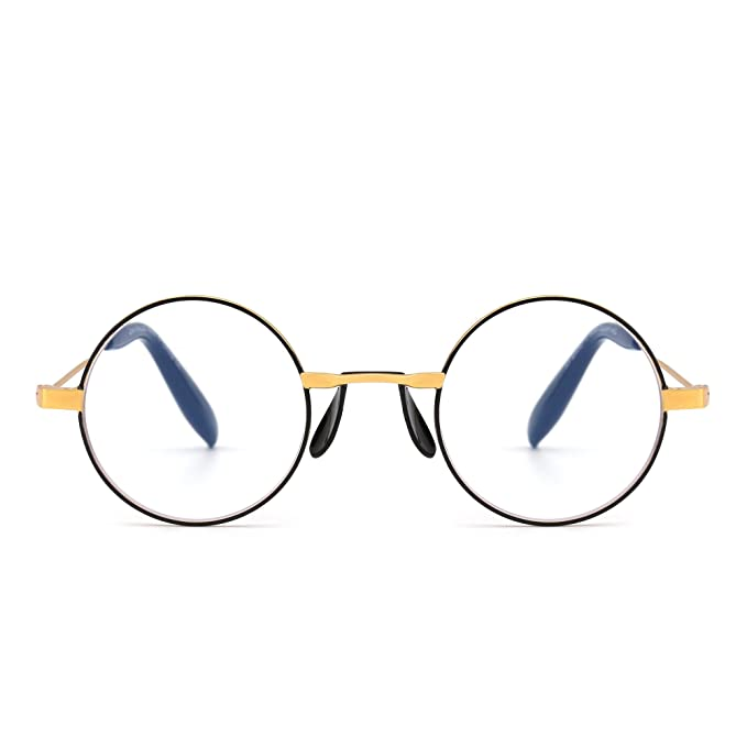 33998e385853 Anti Blue Light Retro Round Metal Computer Reading Glasses Video Gaming  Readers Reduce Eye Fatigue +