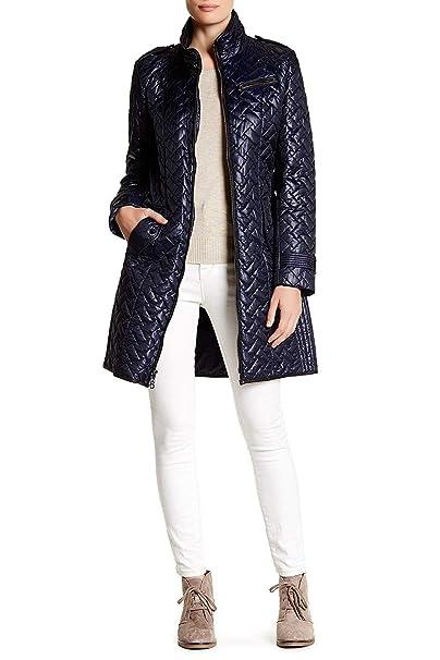 421f56228 Cole Haan Women's Belted Signature Quilt Zip Front Coat with ...