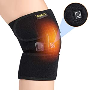 Knee Heating Pad, Knee Support for Women and Men, USB Heat Knee Brace Wrap 3 Temperature Control Thermal Therapy to Warm Joint Relief Pain Knee Stiff, Strains, Calf Leg Arm (No Battery)