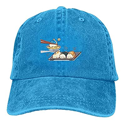 Vintage Adult Sport Baseball Cap Cartoon Glutinous Rice Dumpling Adjustable Denim Cowboy Hat For Men Women