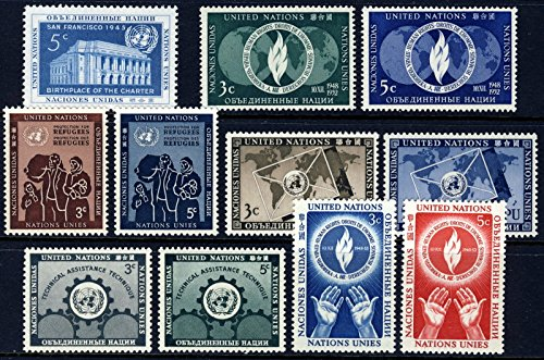 United Nations Stamps 1952-1953 Complete Year Set #12-22 Mint - Mint 1953