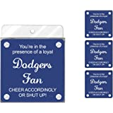 Tree-Free Greetings NC38091 Dodgers Baseball Fan 4-Pack Artful Coaster Set