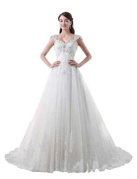 Adasbridal-Vestido de novia de Elegante Tul de escote corazon